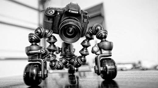 Kamerastativ på hjul