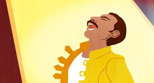 Google firade och hyllade Freddie Mercurys 65-årsdag