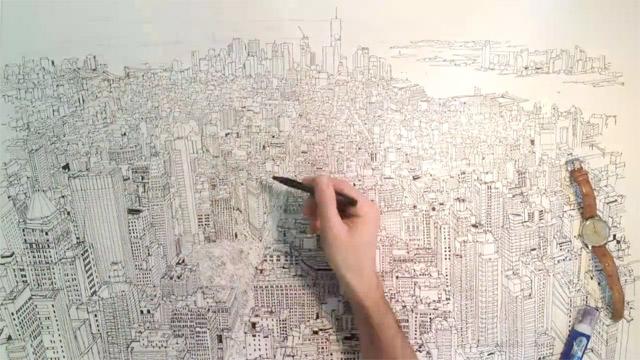 Manhattan på fri hand